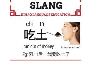 Chinese slang eat soil